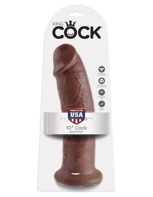 Фаллоимитатор на присоске PipeDream King Cock, коричневый