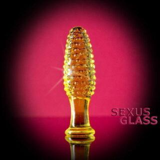 Анальный массажер Sexus Glass, желтый