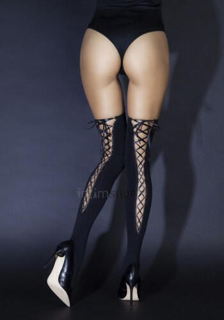 Чулки Le FRIVOLE со шнуровкой сзади (Sense), S/M