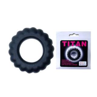 Эреционное кольцо TITAN с крупными ребрышками