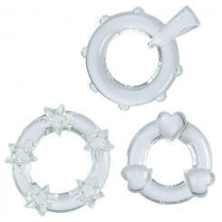 Эрекционные Колечки Magic C-Rings прозрачные