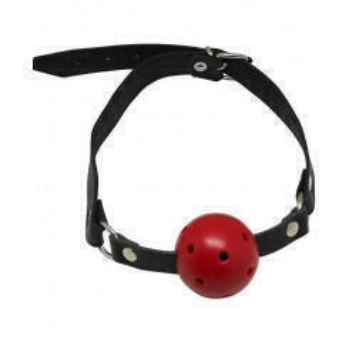 Кляп-шарик на кожаных ремнях