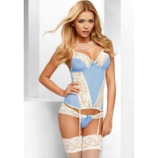 Корсаж и Трусики Avanua Eden corset, голубой L/XL