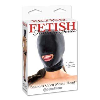 Маска с отверстием для рта Fetish Fantasy Series Spandex Open Mouth Hood черная