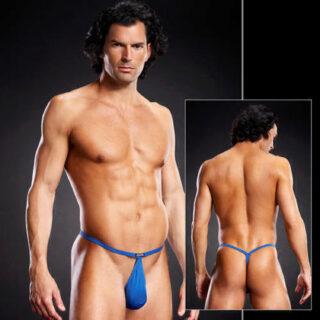 Мужские синие POUCH V-стринги