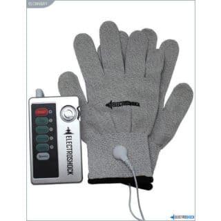 Перчатки с Электростимуляцией E-Stimulation Gloves Shots Media серый