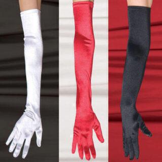 Перчатки SoftLine длинные, черные, S/L