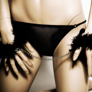 Перьевые Наручники Bijoux Indiscrets - Za Za Zu Feather Handcuffs
