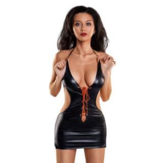 Платье GLOSSY WETLOOK с шнуровкой, размер S