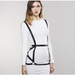 Портупея Bijoux Indiscrets MAZE - ARROW DRESS HARNESS, черный