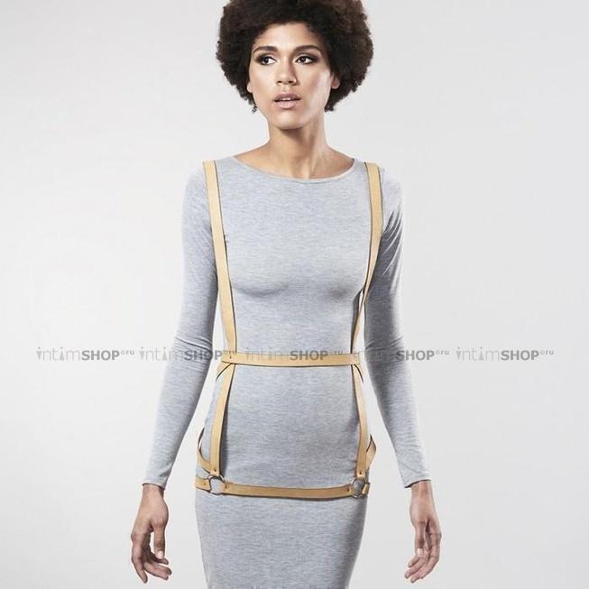Портупея Bijoux Indiscrets MAZE - ARROW DRESS HARNESS, коричневый