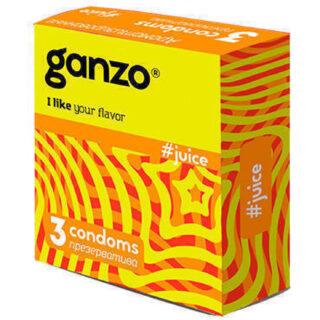 Презервативы Ganzo Juice №3 ароматизированные