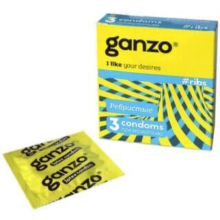 Презервативы Ganzo Ribs №3 с согревающей смазкой