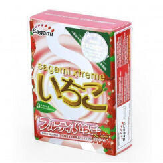 Презервативы SAGAMI XTREME STRAWBERRY 1 шт. латексные со вкусом клубники