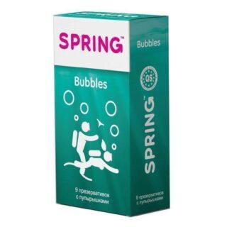 Презервативы Spring Bubbles №9 С пупырышками