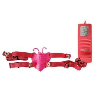 Стимулятор клитора Strap-On Vibr. Butterfly Pink