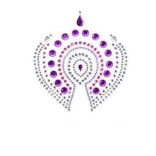 Украшение на Грудь Bijoux Indiscrets - Flamboyant, фиолетово-розовое
