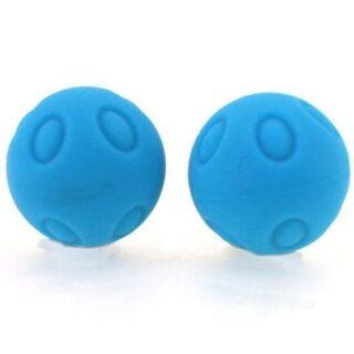 Вагинальные шарики Wicked рельефные голубые